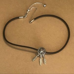 Pandora - Black Leather Choker and Charm
